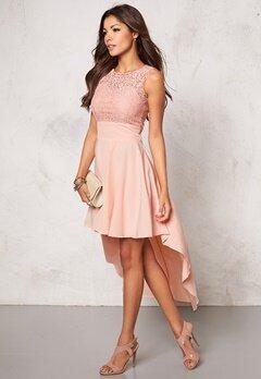 Chiara Forthi Kimberly Highlow Dress Powder pink Bubbleroom.se