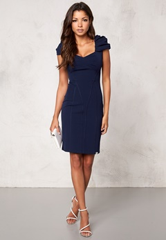 Chiara Forthi Domitille Dress Dark blue Bubbleroom.se