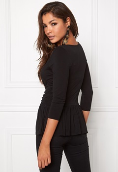 Chiara Forthi Libby Top Black Bubbleroom.se