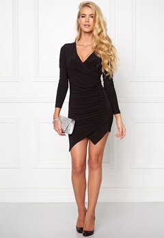 Chiara Forthi Mandy Wrap Dress Black Bubbleroom.se