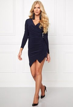 Chiara Forthi Mandy Wrap Dress Dark blue Bubbleroom.se