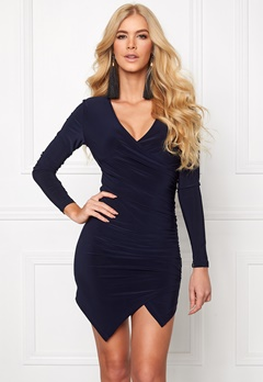 Chiara Forthi Mandy Wrap Dress Dark blue Bubbleroom.se