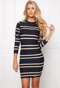 Chiara Forthi Marlow Bodycon Dress Midnight blue/Gold/ Bubbleroom.se