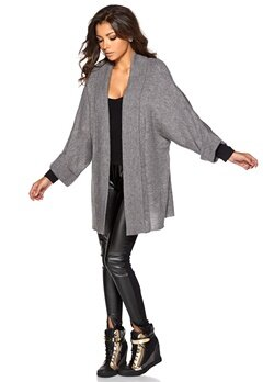 Chiara Forthi Mohair-like cover-up Grey melange Bubbleroom.se