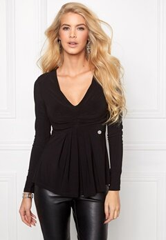 Chiara Forthi Naemi Pleated Top Black Bubbleroom.se