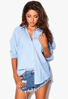 Chiara Forthi Relaxed Oversized Shirt Blue/White/Striped Bubbleroom.se