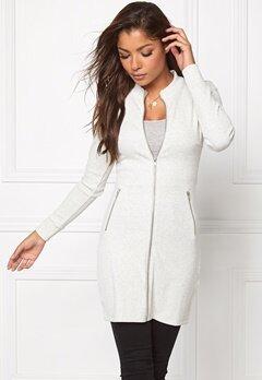 Chiara Forthi Ribbed Bodycon Dress/Jacket Grey melange Bubbleroom.se