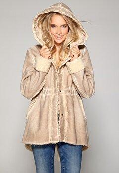 Chiara Forthi Shearling Texture Jacket Sand Bubbleroom.se