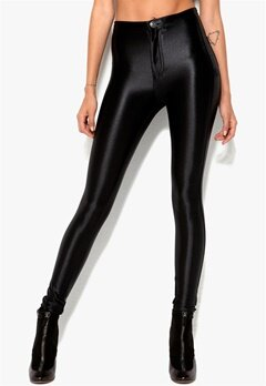 Chiara Forthi Shiny Disco Pants Black Bubbleroom.se