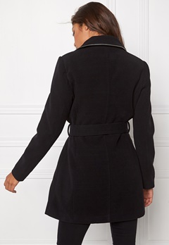 Chiara Forthi Tailored Zip Coat Black/Silver Bubbleroom.se