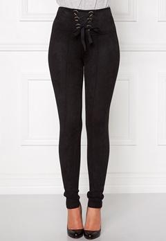 Chiara Forthi Ultra Soft Suede Pant Black Bubbleroom.se