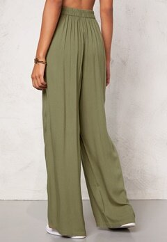 Chiara Forthi Ultra Soft Wide Pants Khaki green Bubbleroom.se