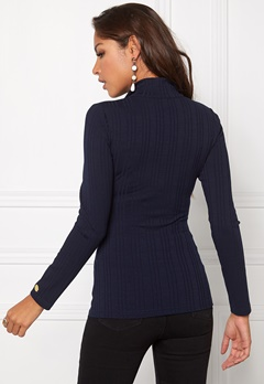 Chiara Forthi Zipped Top Midnight Blue Bubbleroom.se