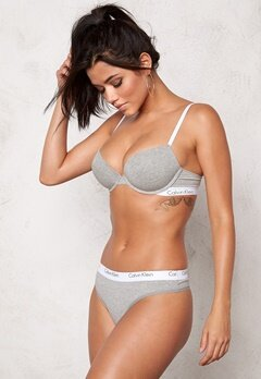 Calvin Klein CK One Cotton Thong Grey Heather Bubbleroom.se