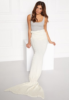 Club L Mermaid Blanket Cream with gold Bubbleroom.se