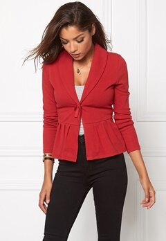 Chiara Forthi Cozy Bow Cardi Dark red Bubbleroom.fi