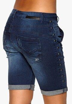 Culture Thea Fit Randa Shorts 1035 Dark Blue Denim Bubbleroom.se
