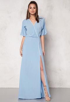 DAGMAR Lillian Long Dress 503 Powder Blue Bubbleroom.se