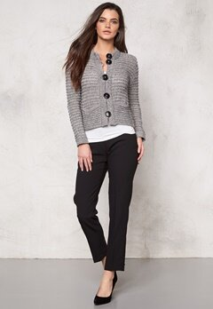 DAGMAR New Fortuna Cardigan 813 Grey Melange Bubbleroom.se