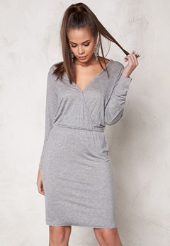 DAGMAR Normy Dress 813 Grey Melange Bubbleroom.se