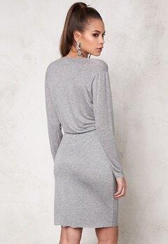 DAGMAR Normy Dress 813 Grey Melange Bubbleroom.se