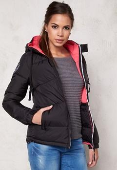 D.Brand Eskimå Jacket Black/Pink Bubbleroom.se
