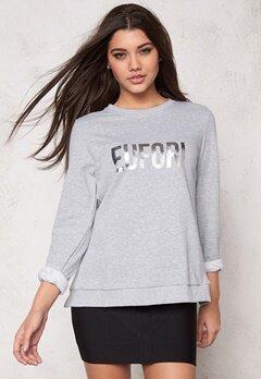 D.Brand Eufori Sweatshirt Grey Bubbleroom.se