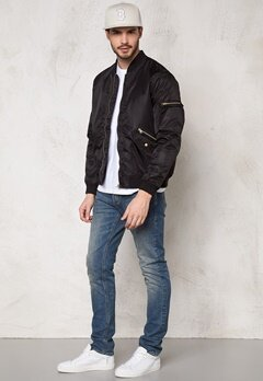 D.Brand Golden Zip Bomber Jacket Black Bubbleroom.se