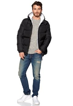 D.Brand Igloo Jacket Black/White Bubbleroom.se