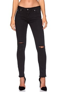D.Brand SP5 Trousers Black Ripped Bubbleroom.se