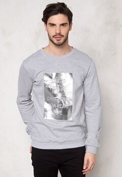 D.Brand Started Sweatshirt Grey Bubbleroom.se