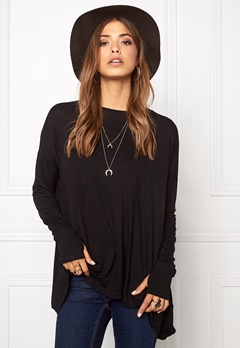 VILA Dere Thumb Hole l/s Top Black Bubbleroom.fi