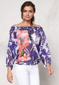 Desigual Julieta Blouse Navy Bubbleroom.se