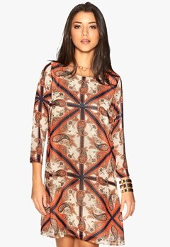 DRY LAKE Amanda Short Print Dress Royal Bubbleroom.se