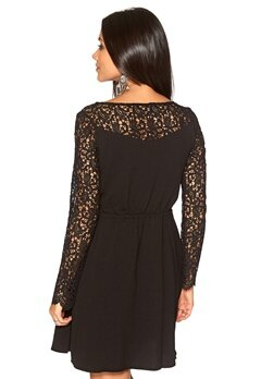 DRY LAKE Arille Short Lace Dress Black Bubbleroom.se