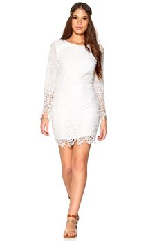 DRY LAKE Benedicte Short Dress White Bubbleroom.se