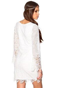 DRY LAKE Benedicte Short Dress White Bubbleroom.se