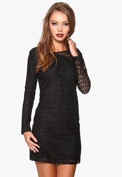 DRY LAKE Brittany Short Lace Dress Black Bubbleroom.se