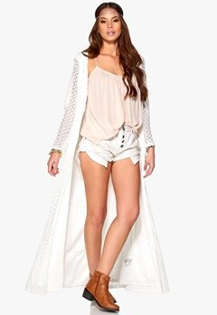 DRY LAKE Desire Long Cardigan White Bubbleroom.se