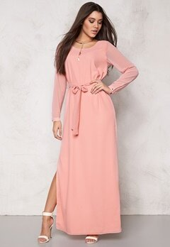 DRY LAKE Dolly Sleeve Long Dress Light Pinkish Bubbleroom.se