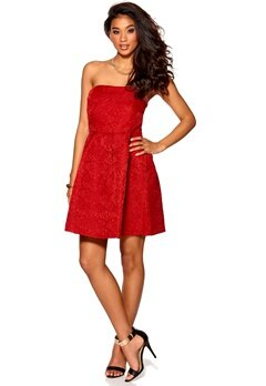 DRY LAKE Florentine Short Dress Red Bubbleroom.se
