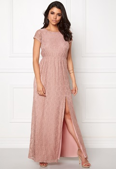 DRY LAKE Last Flower Long Dress Light Rose Lace Bubbleroom.se