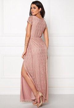 DRY LAKE Last Flower Long Dress Light Rose Lace Bubbleroom.se