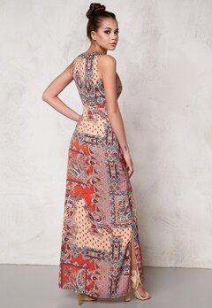 DRY LAKE Max Long Dress Orange Summer Sky Bubbleroom.se