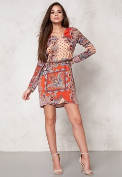 DRY LAKE Max Short Dress Orange Summer Sky Bubbleroom.se