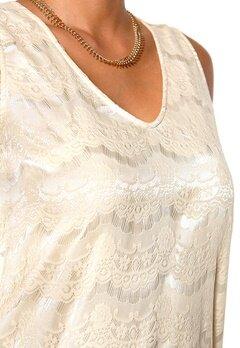 DRY LAKE Olivia Long Lace Dress Off White Lace Bubbleroom.se