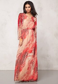 DRY LAKE Ophelia Long Dress Autumn Nature Bubbleroom.se