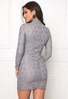 DRY LAKE Storm Turtle Dress Grey Lace Bubbleroom.se
