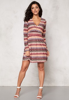 DRY LAKE Ziczac Long Sleeve Dress Multi Bubbleroom.se
