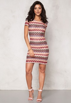 DRY LAKE Ziczac Short Sleeve Dress Multi Bubbleroom.se